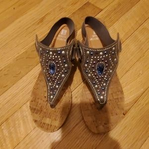 white mountain wedge  With beautiful rhinestone 7